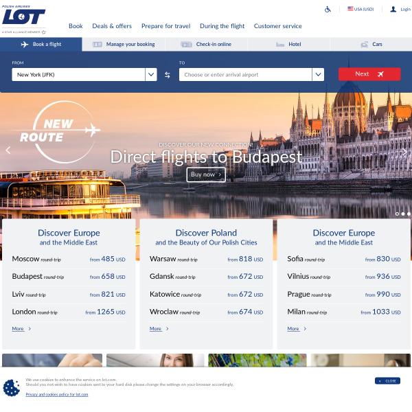 Airlines Lot Polish Airlines Flights Travelario Com