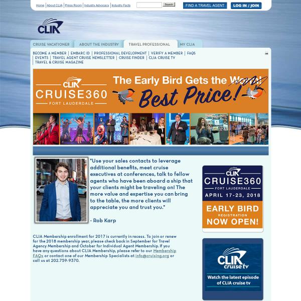 Organizations CLIA Cruise Lines International Association